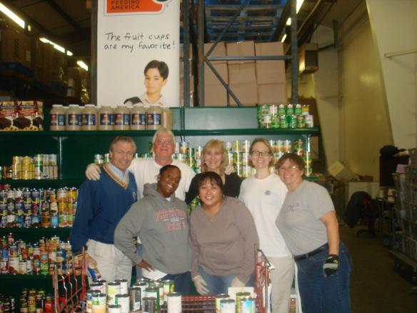 DHS Employees Volunteer at Lorton Food Bank