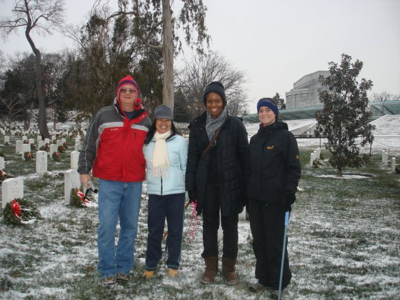 Wreath Cleanup at Arlington National Cemetery