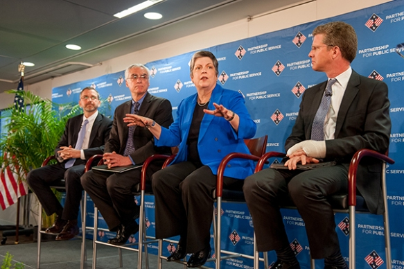 Secretary Napolitano Participates in Public Service Recognition Week Town Hall Meeting