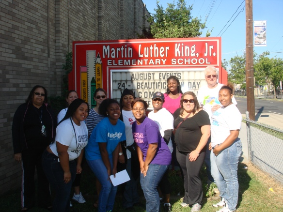 DHS Employees Volunteer for DCPS Beautification Day