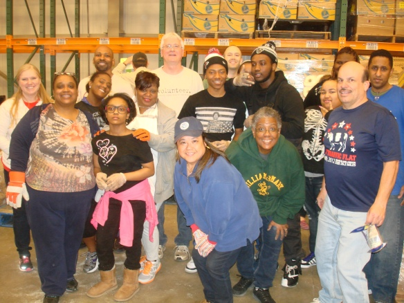 DHS Employees Volunteer at Capital Area Food Bank
