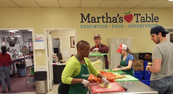 DHS Employee Volunteer at Martha's Table