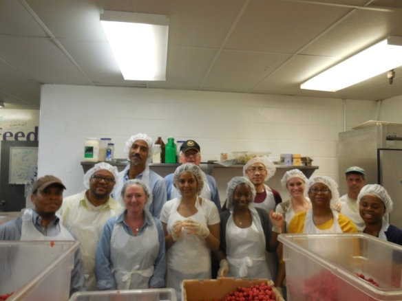 DHS Employees Volunteer at DC Central Kitchen - Again!